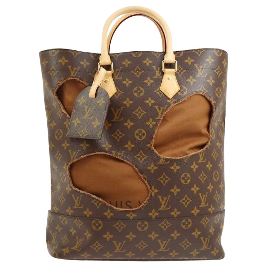 Louis Vuitton Limited Edition Monogram Brown Cut Out Carryall Travel Tote Bag