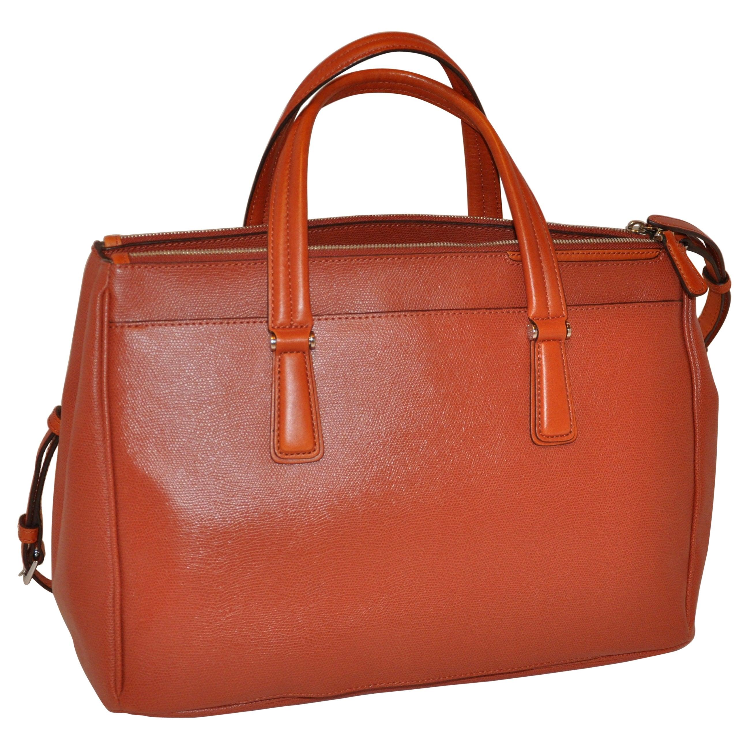 "Tumi ""Limited Edition"" ""Three-Compartment"" Textured Business Travel Handbag"