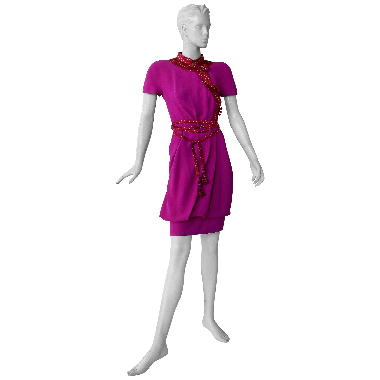 Christian Dior by John Galliano Runway Stylish Asian Inspired Dress