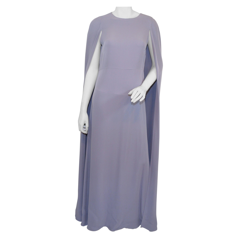 Valentino Lilac Cape Gown
