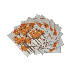 "Vera ""Set of 8"" ""Field of Flowers"" Linen-Blend Table Napkins"