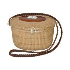 Nantucket Style Hand-Weave Wicker Shoulder Bag