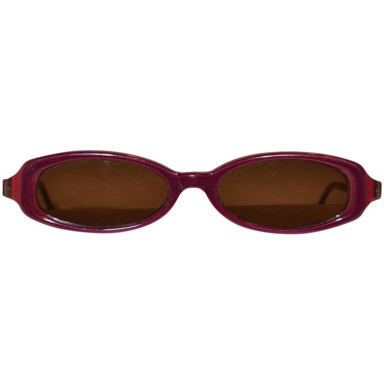 Jean Lafont Autumn Brown Over Gold Hardware Frame Sunglasses