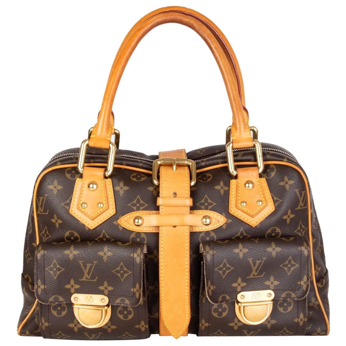 LOUIS VUITTON brown Monogram canvas MANHATTAN GM Shoulder Bag