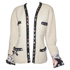 1995 Vintage Chanel Tweed Jacket with Playing Cards Motif