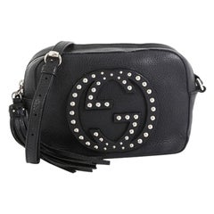 Gucci Soho Disco Crossbody Bag Studded Leather Small