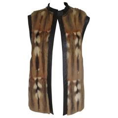 exclusive sleeveless fur vest