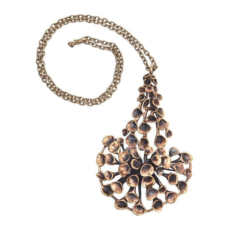 Bronze Brutalist Studio Necklace 1