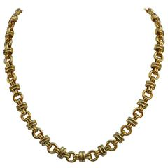 Gilded Gold Vermeil Finish Italy-Style Necklace