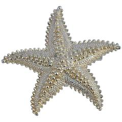 "Large Gilded Gold Vermeil ""Starfish"" Brooch"
