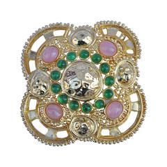 Rare Christian Dior Magnificent Vermeil Finish Huge Pendant