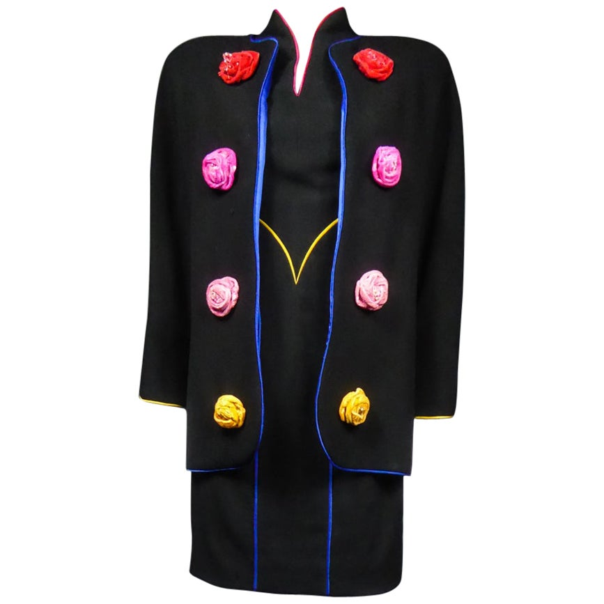 An Emanuel Ungaro French Couture Dress and Jacket Set Collection 1991-1992