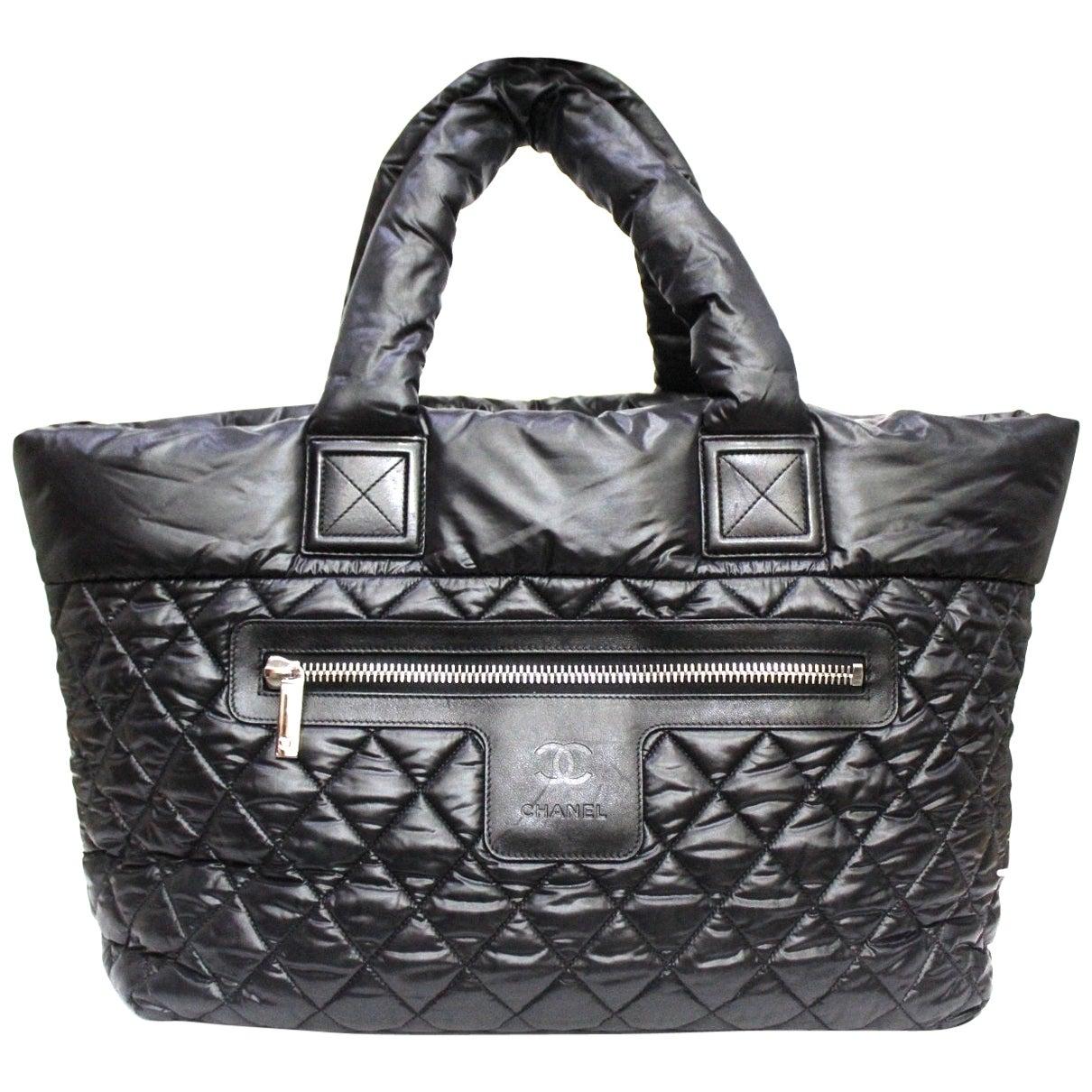 2011 Chanel Black Nylon Coco Cocoon Shoulder Bag