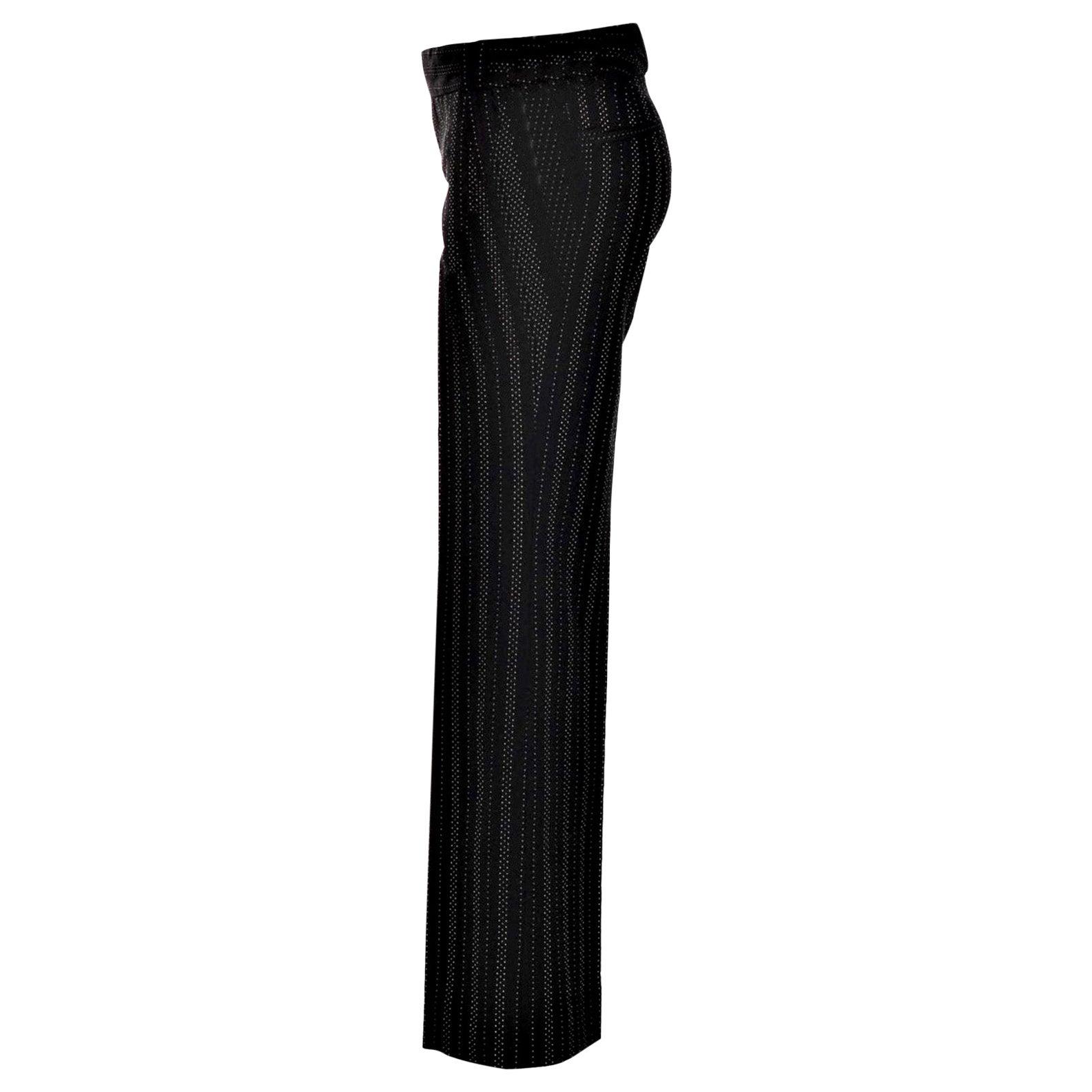 New Gucci 90th Anniversary Wool Runway Pants F/W 2011 Sz 44