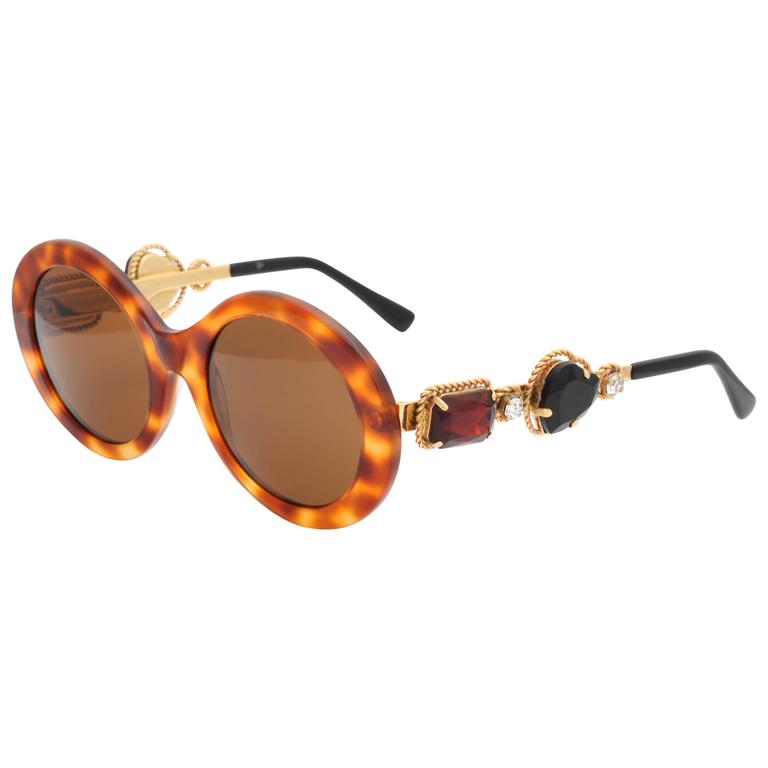 55ea0676c54 Vintage Moschino by Persol Jeweled Sunglasses at 1stdibs