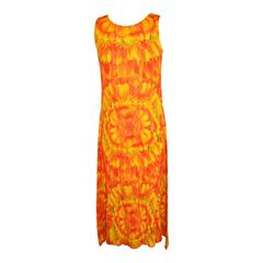 Issey Miyake Signature Floral Sleeveless Maxi Dress