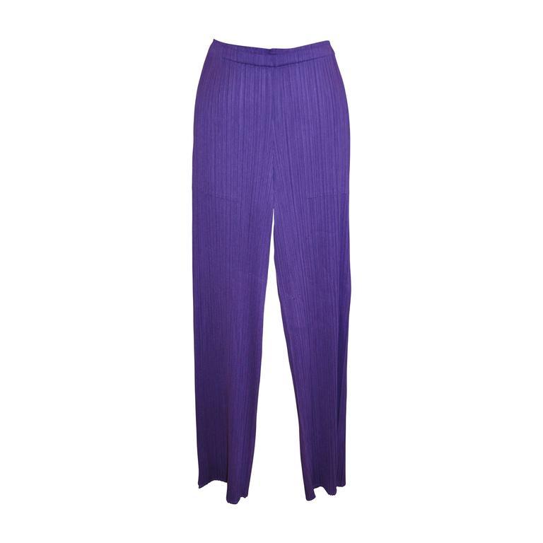 Issey Signature Pleated Purple Trousers