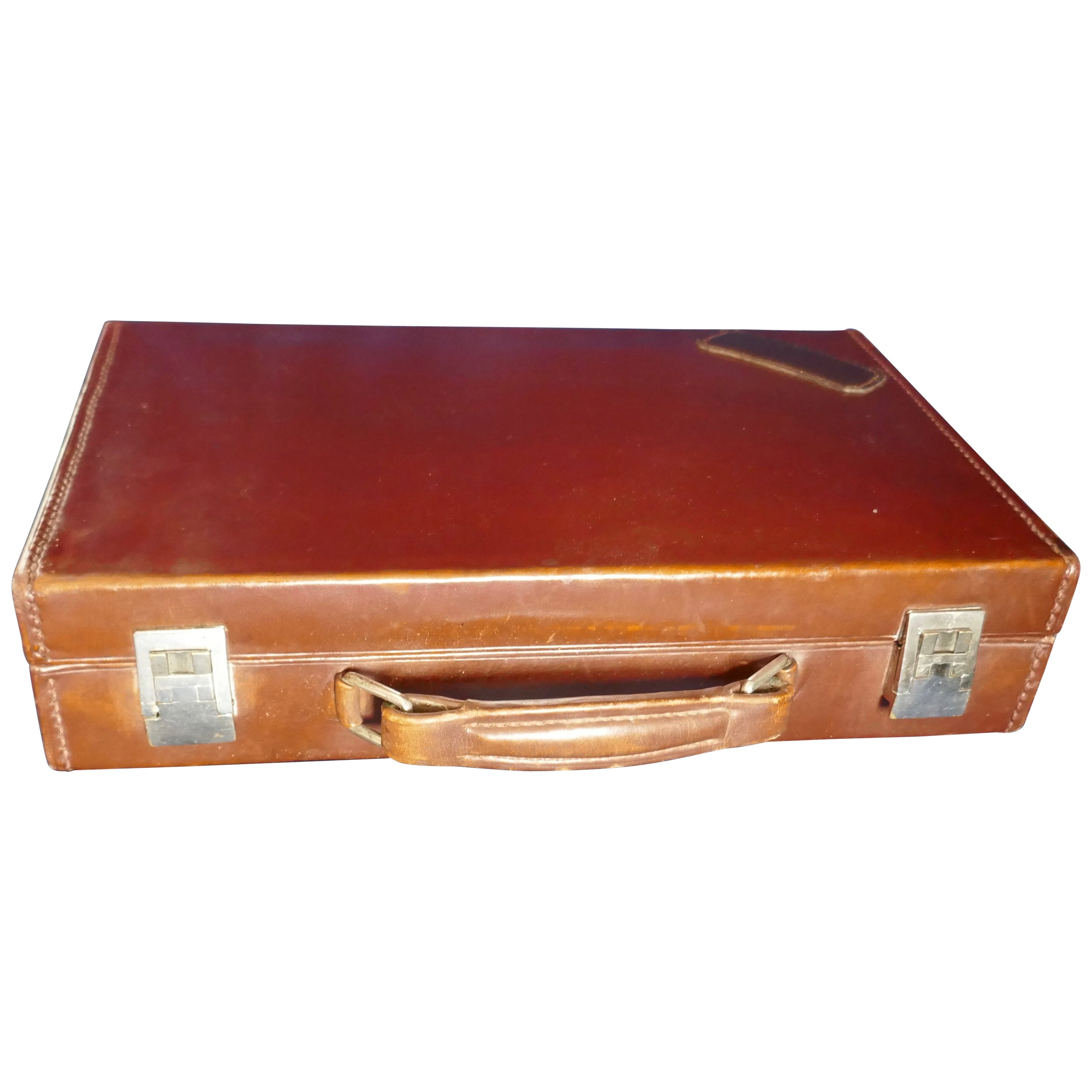 Vintage Art Deco Hermes Fitted Gentlemans Travelling Grooming Case