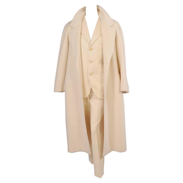 Sulka Cream Alpaca Polo Coat, Never Worn 1