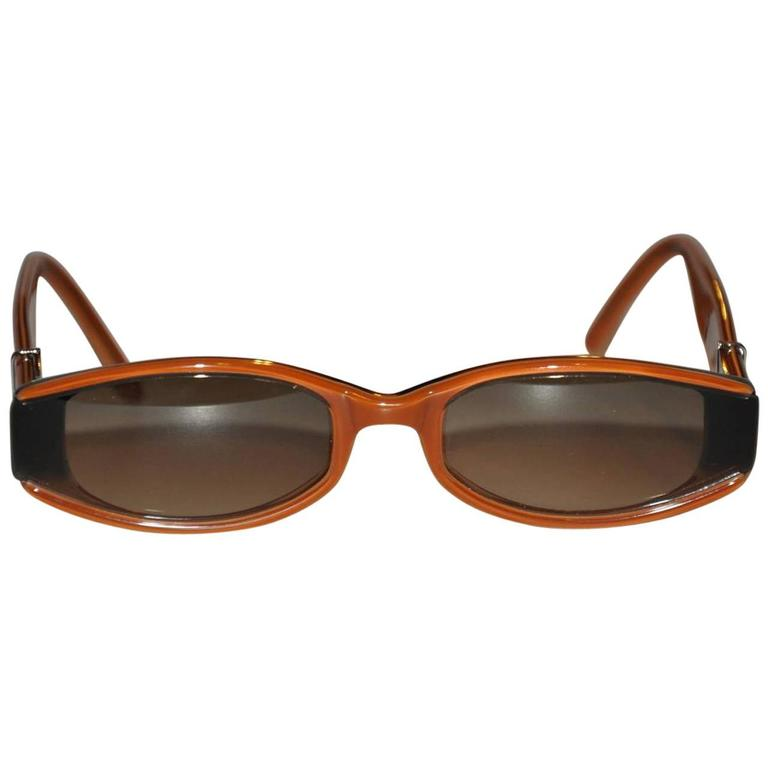 ab3cf3d88a3 Robert Marc Hand-Made Detailed Brown Lucite Sunglasses For Sale at ...