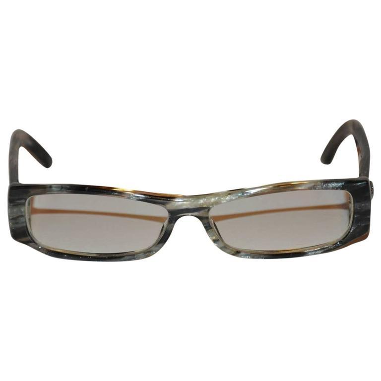 """Gucci Multi-Color Metallic """"Swirls"""" Lucite Sunglasses"""