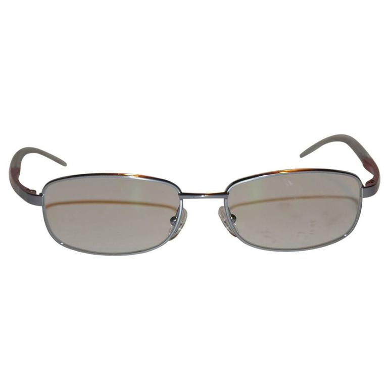 Christian Dior Clear Lucite with Silver Hardware glasses