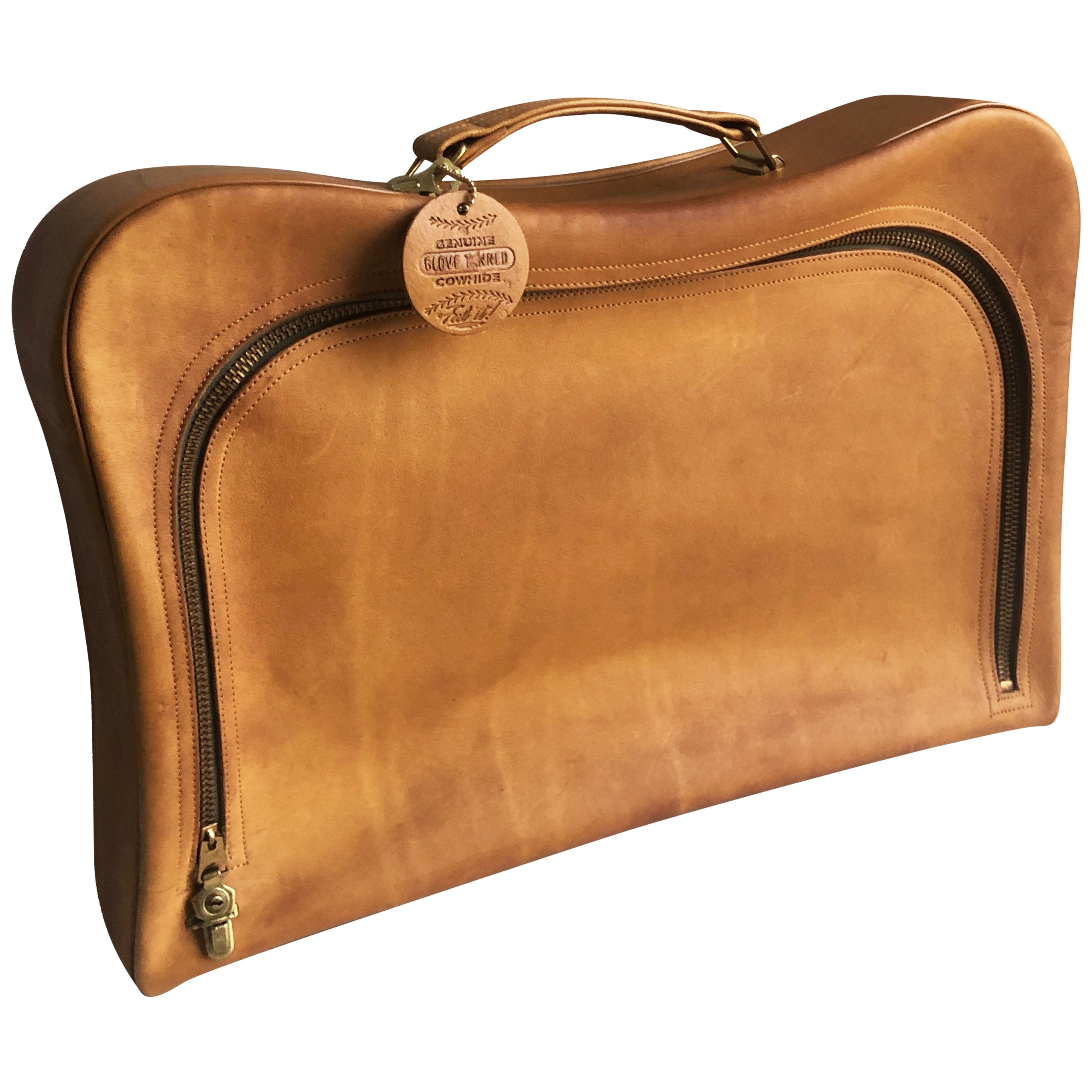 Bonnie Cashin for Coach Diplomat Attache Briefcase with Rare Baseball Tag 1960s