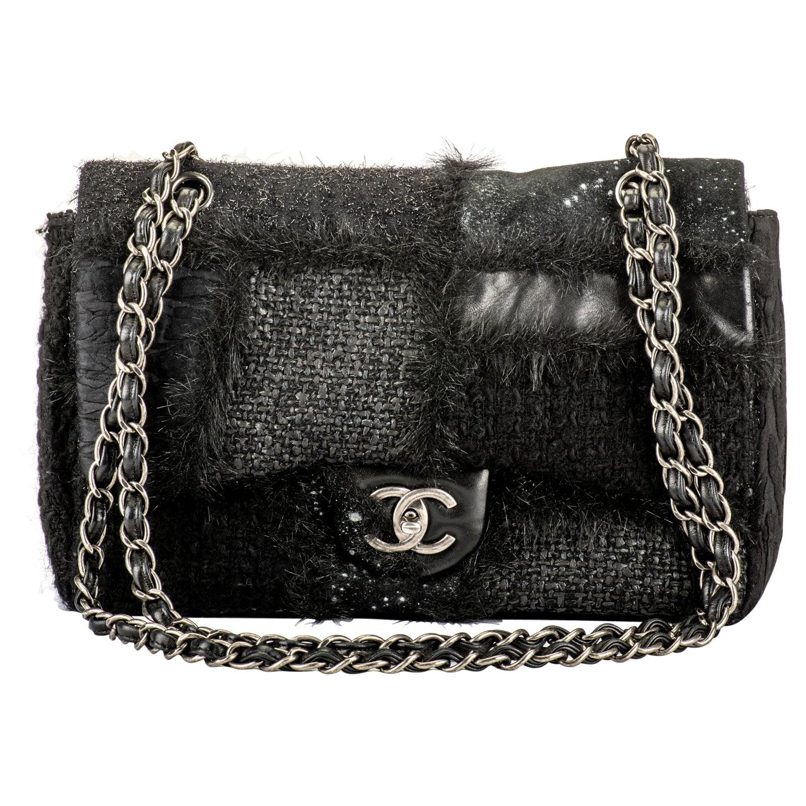 Chanel Limited Edition Black Patchwork Jumbo Bag