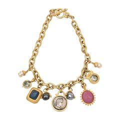 Custom Designed Linda Levinson Roman Inspired Fab Coin Dangle Chain Necklace