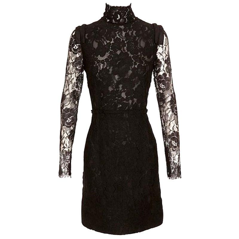 Lanvin Black Lace Dress