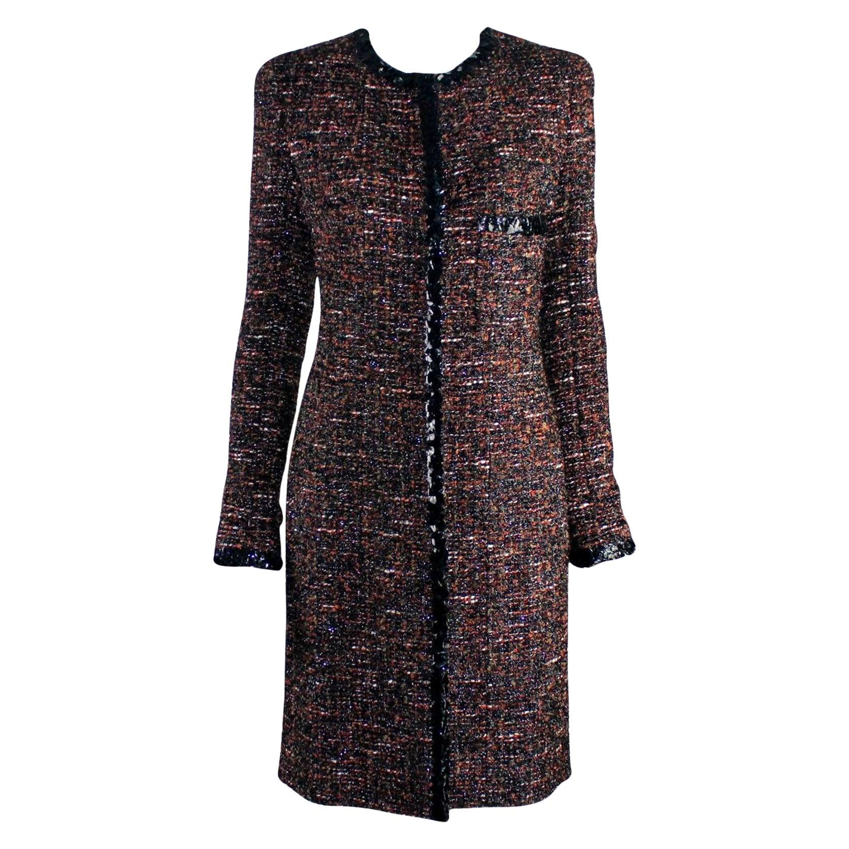 Chanel Metallic Lesage Fantasy Tweed Sequin Trimmed Coat