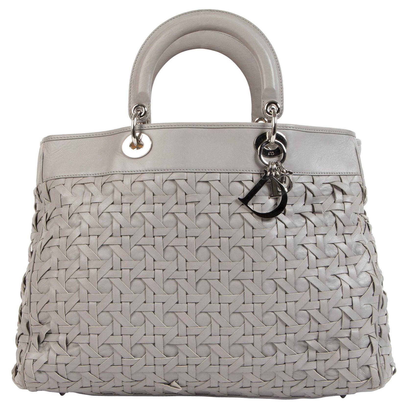 Dior Lady Dior Avenue Grey Tote Bag