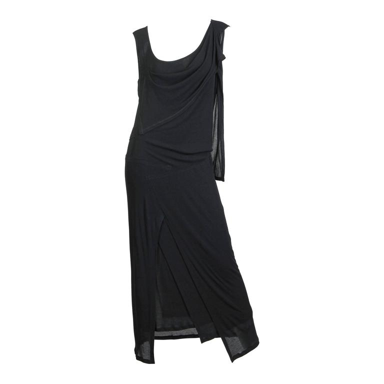 Issey Miyake Draped Cotton Jersey Dress