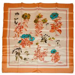 "Echo Multi-Color ""List of Flowers"" Silk Scarf"