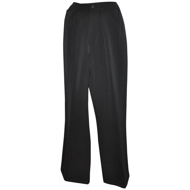 Yoshi Yamamoto Black Wide-Leg Trousers
