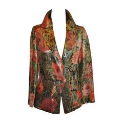 Judy Hornby Multi-Color Multi-Metallic Floral Jacket