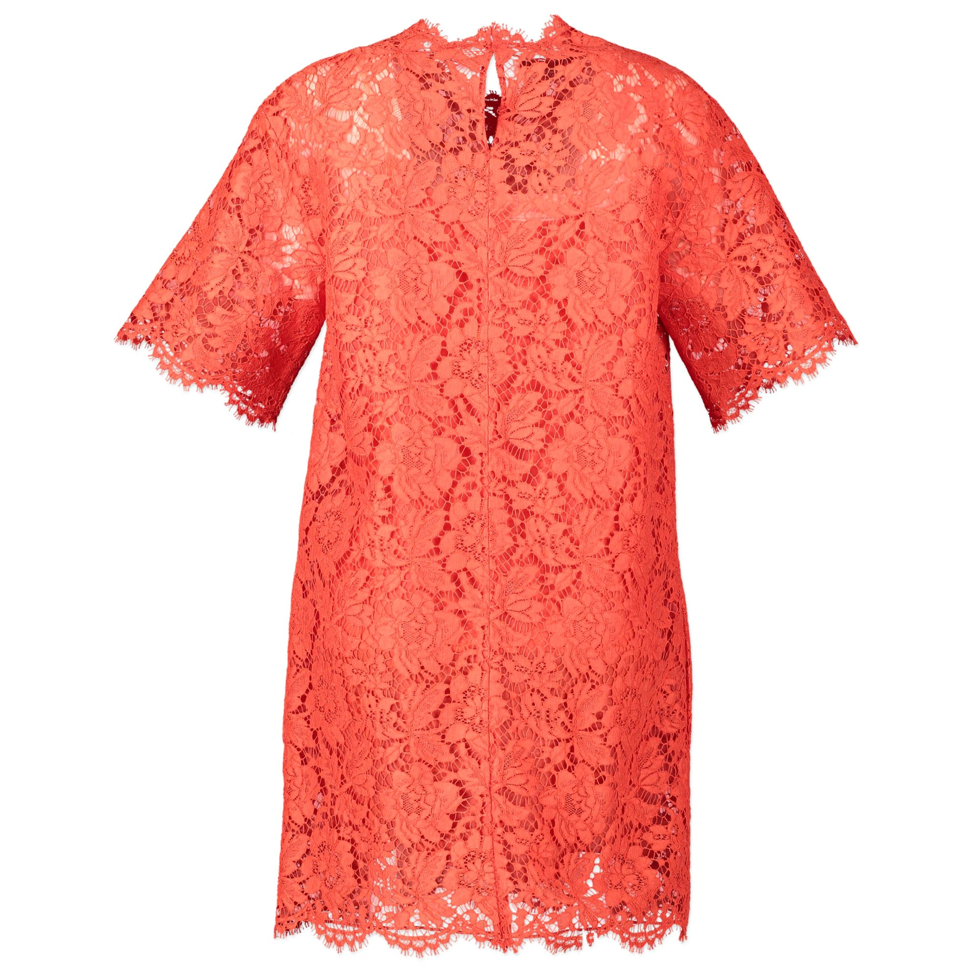 Valentino Red Lace Dress - Size 40