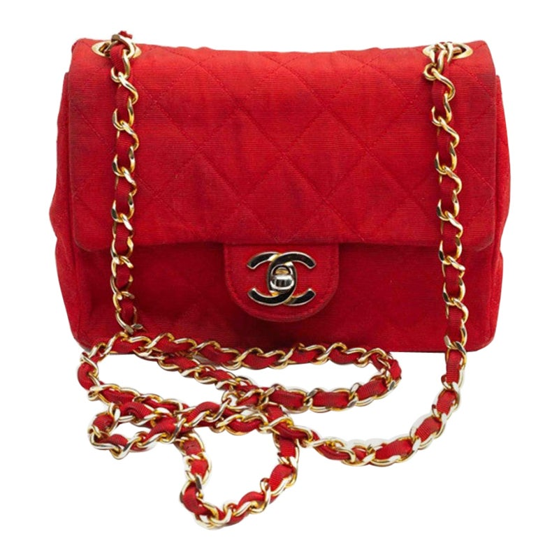 CHANEL Red Timeless Mini Bag