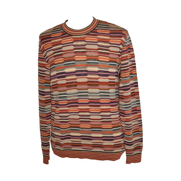 Missoni Multi-Color Men's Pullover Sweater