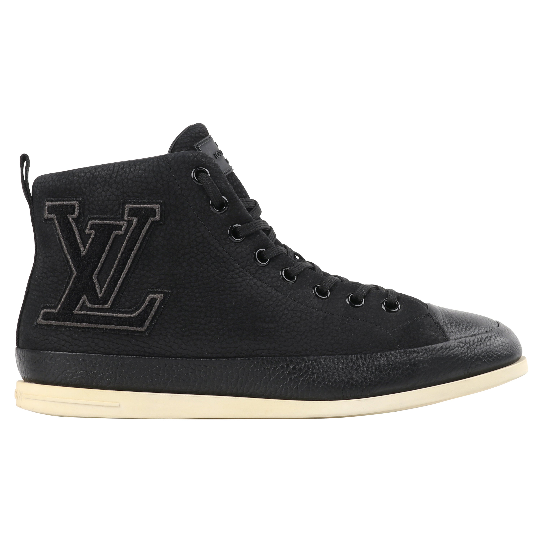 "LOUIS VUITTON S/S 2012 ""Surfside"" Black Nubuck Leather High Top Sneaker Boots"