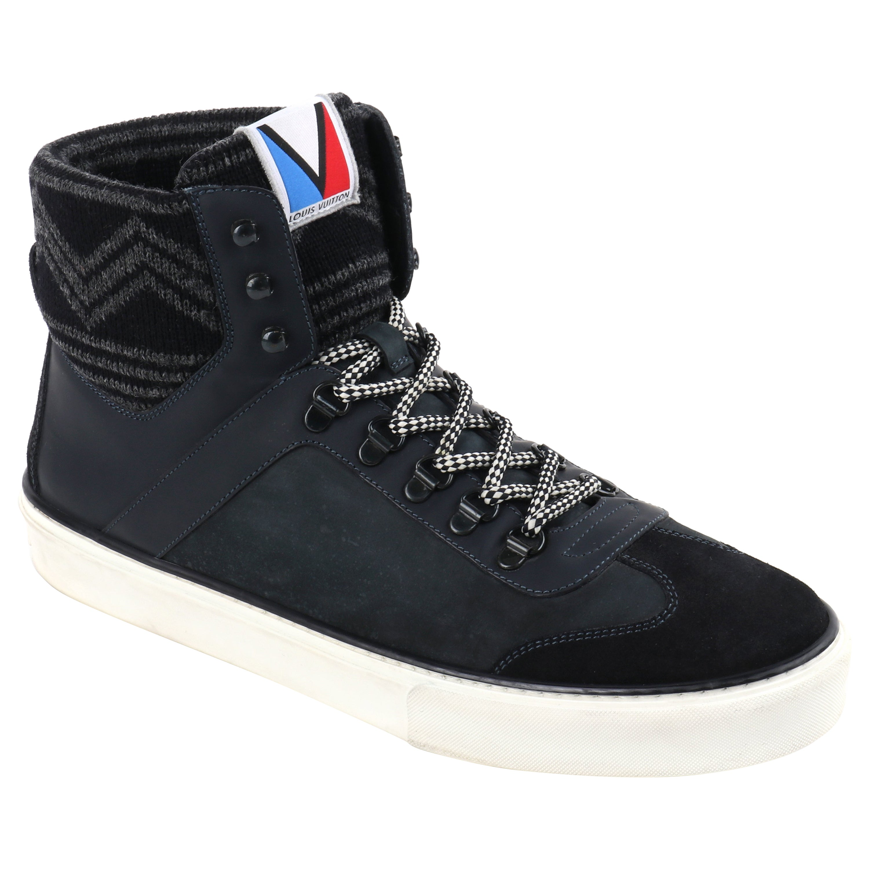 """LOUIS VUITTON F/W 2012 """"Breaking Away"""" LV Cup Leather Mountaineer Sneaker Boots"""