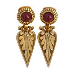 Gilded Gold Vermeil Drop Earrings