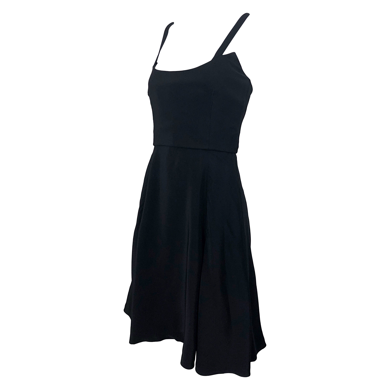 1990s Christian Lacroix Avant Garde Size 36 2 /4 Vintage Black 90s Skater Dress