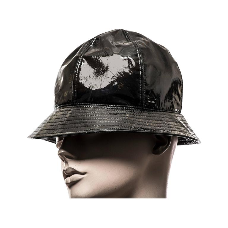 Chanel Patent Leather Hat at 1stdibs a5a8beadc32