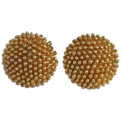 Boucher Gilded Gold Vermeil Elegant Ear Clips