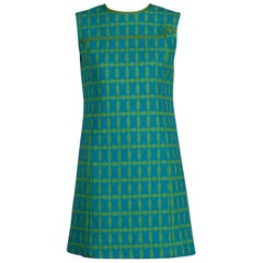 1960s Shannon Rodgers for Jerry Silverman Vintage Geometric Mod Shift Dress