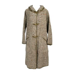 1960s Vintage Bonnie Cashin Suit Sills And Co Hooded Tweed Coat & Slim Skirt