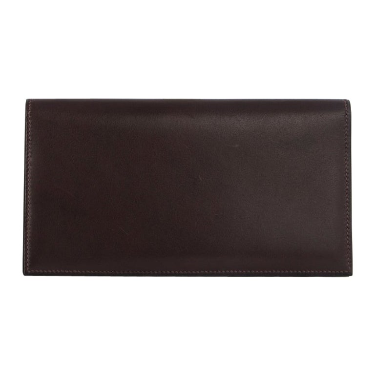 HERMES Ebene brown Swift leather CITIZEN LONG Wallet