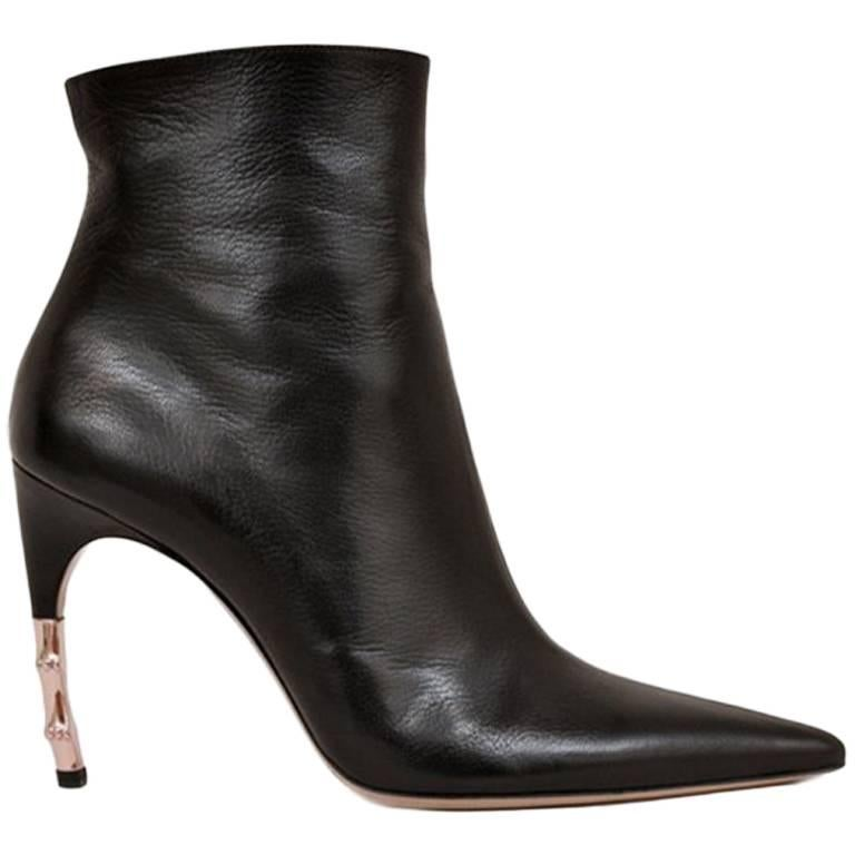 F/W 2004 Tom Ford for Gucci Rare Black Goatskin Ankle Boots ***New For Sale