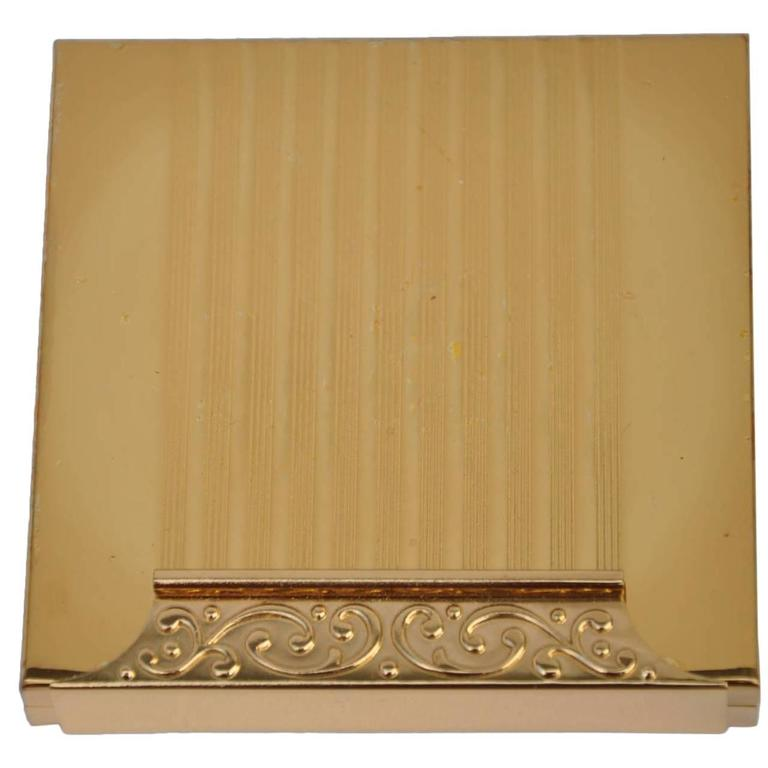 Avon Detailed Gold-Plated Compact Case